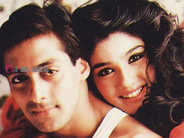 Salman khan with raveena