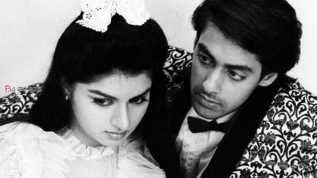 salman khan with Bhagyashree